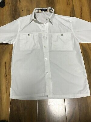 Burberry Boys White Short Sleeve Shirt Age 10 Years Old