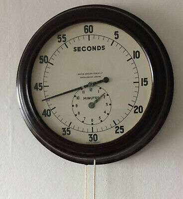 Vintage Bakelite Smiths wall mounted timer Clock, 1940's quite rare
