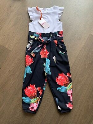 New Ted Baker Girls Jumpsuit Playsuit Size 3-4 Years