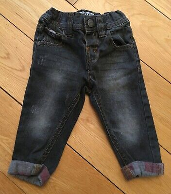 Baby Boys Next Grey Jeans Size 6-9 Months