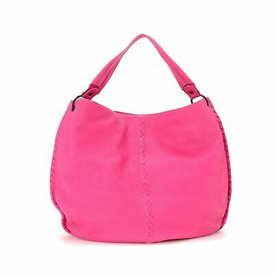 Preloved Bottega Venetta LEATHER HOBO BAG PINK 100% Authentic with A RATING