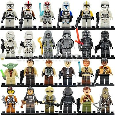 Mini Figurine Star wars Dark vador yoda luke skywalker lego et compatible