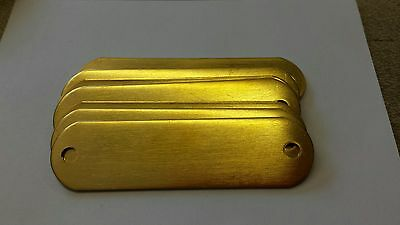 25 Blank Brass Identification tags for Dog Collars