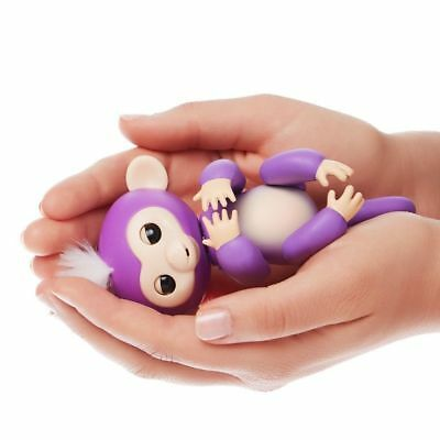 6 Functions Baby Monkey Finger Kids Toy Electronic Interactive Pet Lings Purple