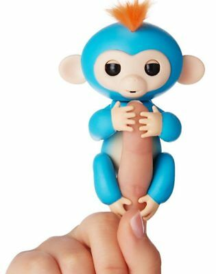 6 Functions Baby Monkey Finger Kids Toy Electronic Interactive Pet Lings Blue
