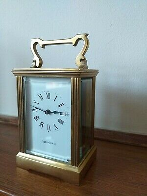 Antique solid brass Carriage Clock By Mappin And Webb in Excellent condition .