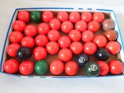 "Joblot 42 x 1 1/2"" Inches Replacement Pool Ball - Spare Pool Ball Snooker  1.5"""