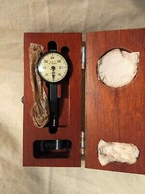 VINTAGE 1940'S BROWN & SHARPE DIAL TEST INDICATOR,.0001, Model 2 with Wooden Box