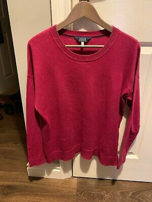 Womens Joules Pink Jumper Size 10 Good Condition