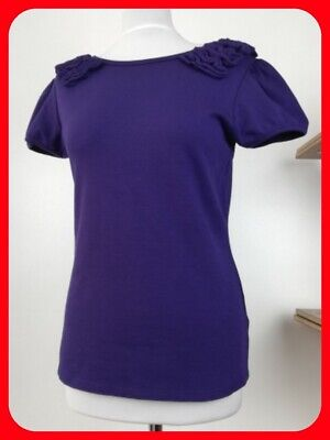 Gorgeous Purple Stretch Top by Ted Baker Size 3 UK 12