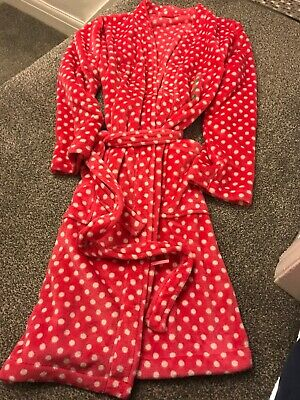 Pink Spotty Dressing Gown Size 12-14 M&S