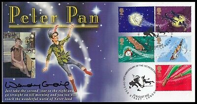 WENDY CRAIG Signed 2002 GB Peter Pan Steven Scott Customised FDC Peter St London