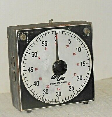 "Vintage ""GRALAB"" DARKROOM UNIVERSAL TIMER Electric Model 165 Gray Laboratory"