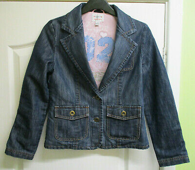 GIRLS BLUE DENIM JACKET BY NEXT AGE 11-12 YEARS 152cm immaculate condition