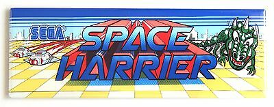 Space Harrier Marquee FRIDGE MAGNET (1.5 x 4.5 inches) arcade video game header