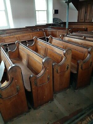 Large  Victorian Church Pew Bench