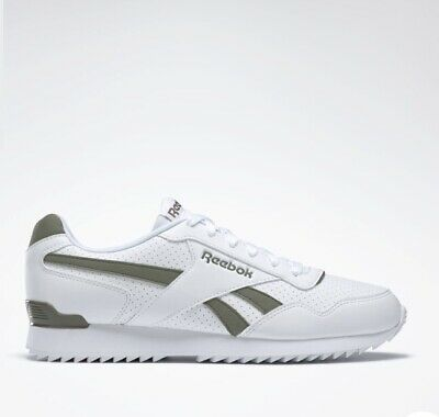 New Reebok Classic Royal Glide Ripple Clip Trainer Shoes Uk Size 7 White & Green