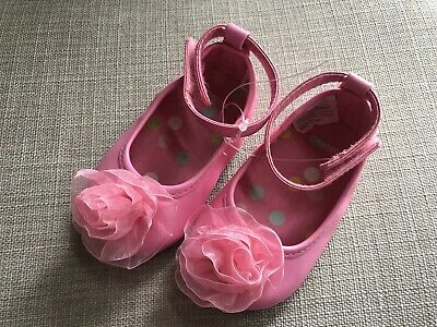 GYMBOREE Animal Friends Infant Baby Girl Crib Shoes Pink w//Bows Size 2 4 NEW