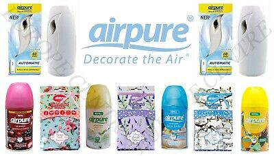Airpure Freshmatic Auto Spray Refills 250ml Scented Sachets Pack of 1 - 3 - 6