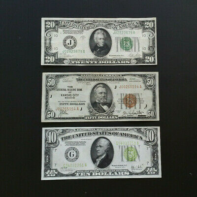 3 - Piece Currency Lot - National - Gold Demand