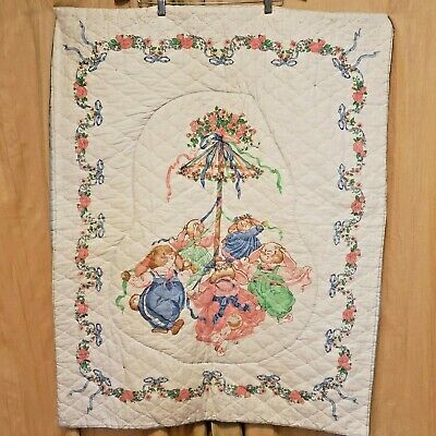 Julie's Journey Bunny Rabbit Baby Quilt Wall Hanging Handmade Julie May Pole