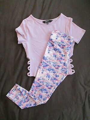 NEW LOOK Lilac Top Age 12 Years & YD Sports Leggings 11-12 Years