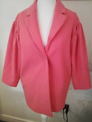 River Island Pink Girls Jacket Pea Coat Aged 10