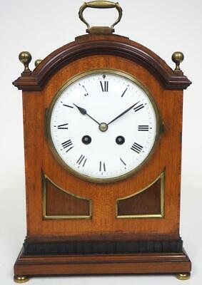 Original French Mantel Clock 8 Day Ormolu Mounts Mahogany Striking Mantle Clock