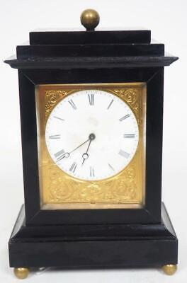 Original Antique French Ebonised Mantel Clock 8Day Pendulum Carriage Clock C1850