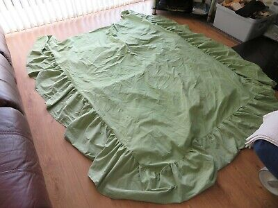 Green Colour Single Bed Under Mattress Valance 50% Cotton 50% Polyester