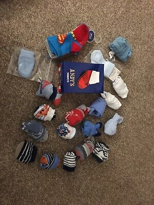 28 Pairs Baby Socks Sizes 0-3 Months 0-6 Months Bundle New Used Boys Trumpette