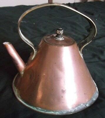 Arts And Crafts Hand Made Copper Kettle From Edwin Winter Taunton