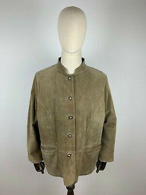 Leather Jacket Traditional Janker Real Braun Brown 48