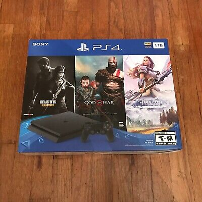 PlayStation 4 1TB Only on PlayStation, God of War, Horizon, Last of Us, PS4 Slim