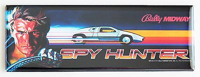 Spy Hunter Marquee FRIDGE MAGNET (1.5 x 4.5 inches) arcade video game header