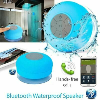 Waterproof Bluetooth Speaker Wireless Phone call TF Suction Car/ BATHROOM Shower