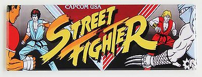 Street Fighter Marquee FRIDGE MAGNET (1.5 x 4.5 inches) arcade video game header