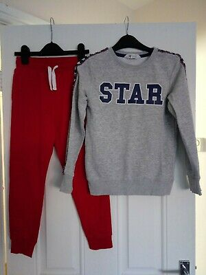 Girls H&M Outfit Jumper and Jogging bottoms 8-9 Years
