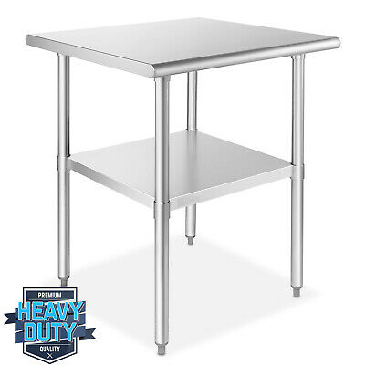 OPEN BOX - Stainless Steel Commercial Kitchen Prep & Work Table 30 in. x 30 in.