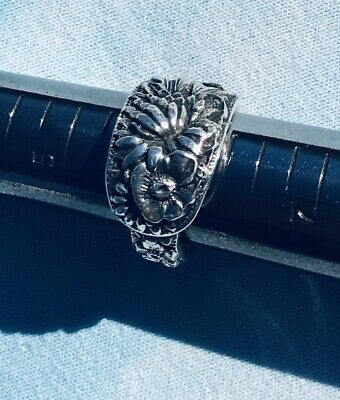 Kirk & Son Sterling REPOUSSE Spoon Ring Size 6'