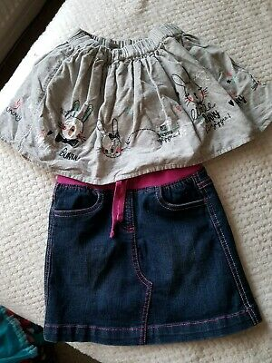Bundle of 2 girls skirts aged 4-5 years NUTMEG and TU