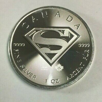 2016 Canada Silver Superman - 1 oz .9999 Fine Silver Coin - Raw SKU#974