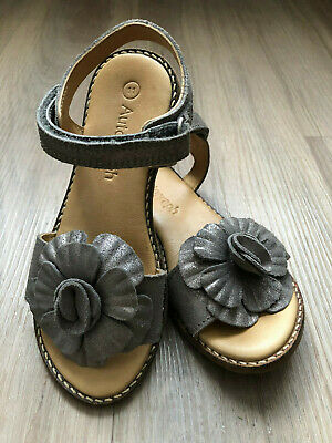 Marks and Spencer Autograph M&S Girls Shoes Sparkly Sandals Leather Party UK11