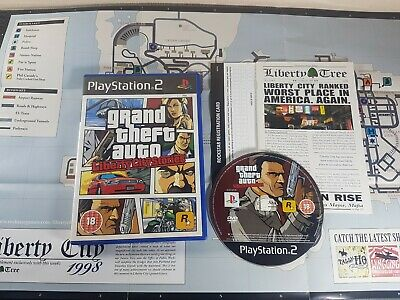 GTA Grand Theft Auto: Liberty City Stories PS2 Playstation Game Manual Map PAL