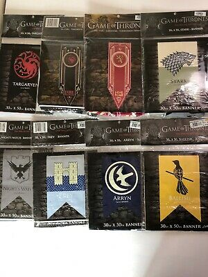Game of Thrones House Targaryen Lannister Stark Tournament Banner Flag Lot Of 8