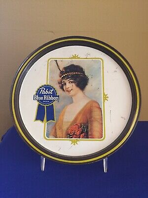 Vintage Pabst Blue Ribbon Beer Serving Tray 10¾ inches.Good Condition.