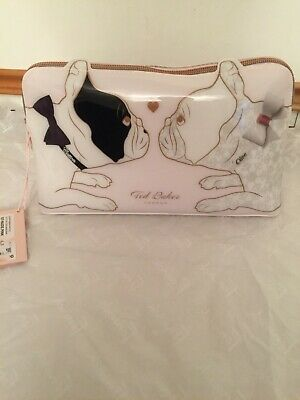 Ted Baker Large CANDICE Cotton Dog PVC Wash Bag Brand New with tag /