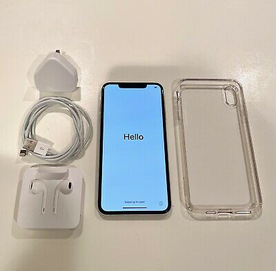 Apple iPhone XS Max - 256GB - Silver (Unlocked) - GOOD Condition