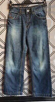 Matalan Boys Dark Blue Straight Leg Distressed Jeans Size 11 Years