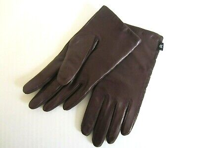 Aris womens brown leather gloves ~ one size~nos